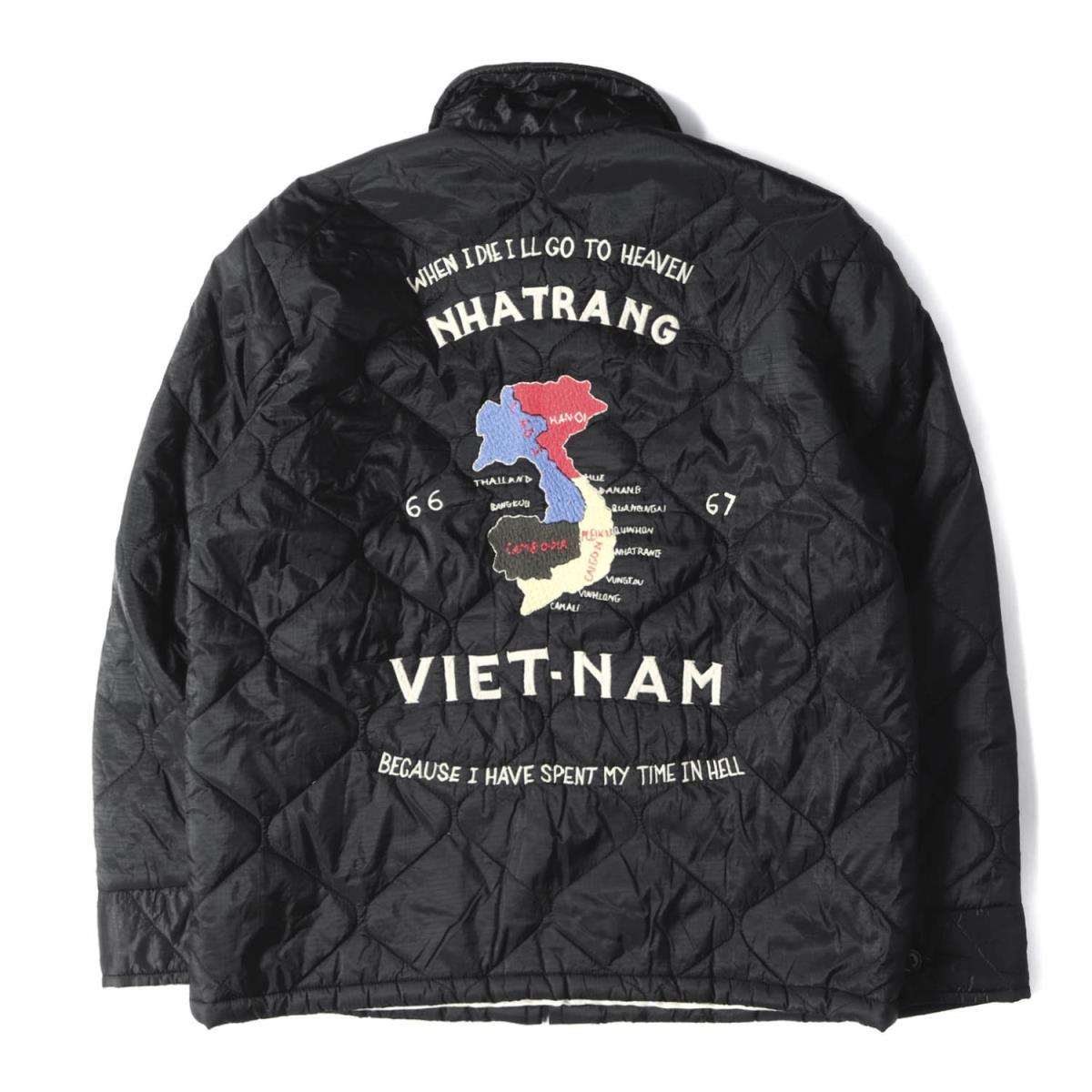 Tailor TOYO テーラー東洋 ジャケット BEAMS 別注 ベトナムマップ スーベニアジャケット ベトジャン ブラック LメンズK2573DHI29E