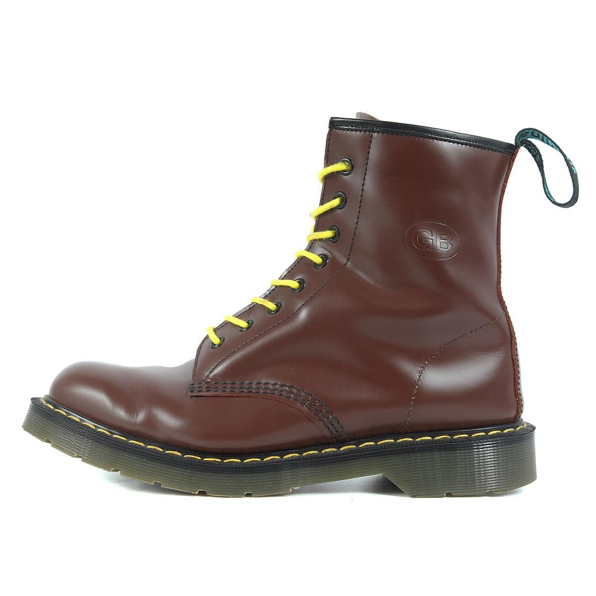 GB SKINS ジービースキンズ ブーツ SOLOVAIR 8ホール レザー ブーツ バーガンディー UK9 28 【メンズ】【中古】【美品】【K2594】