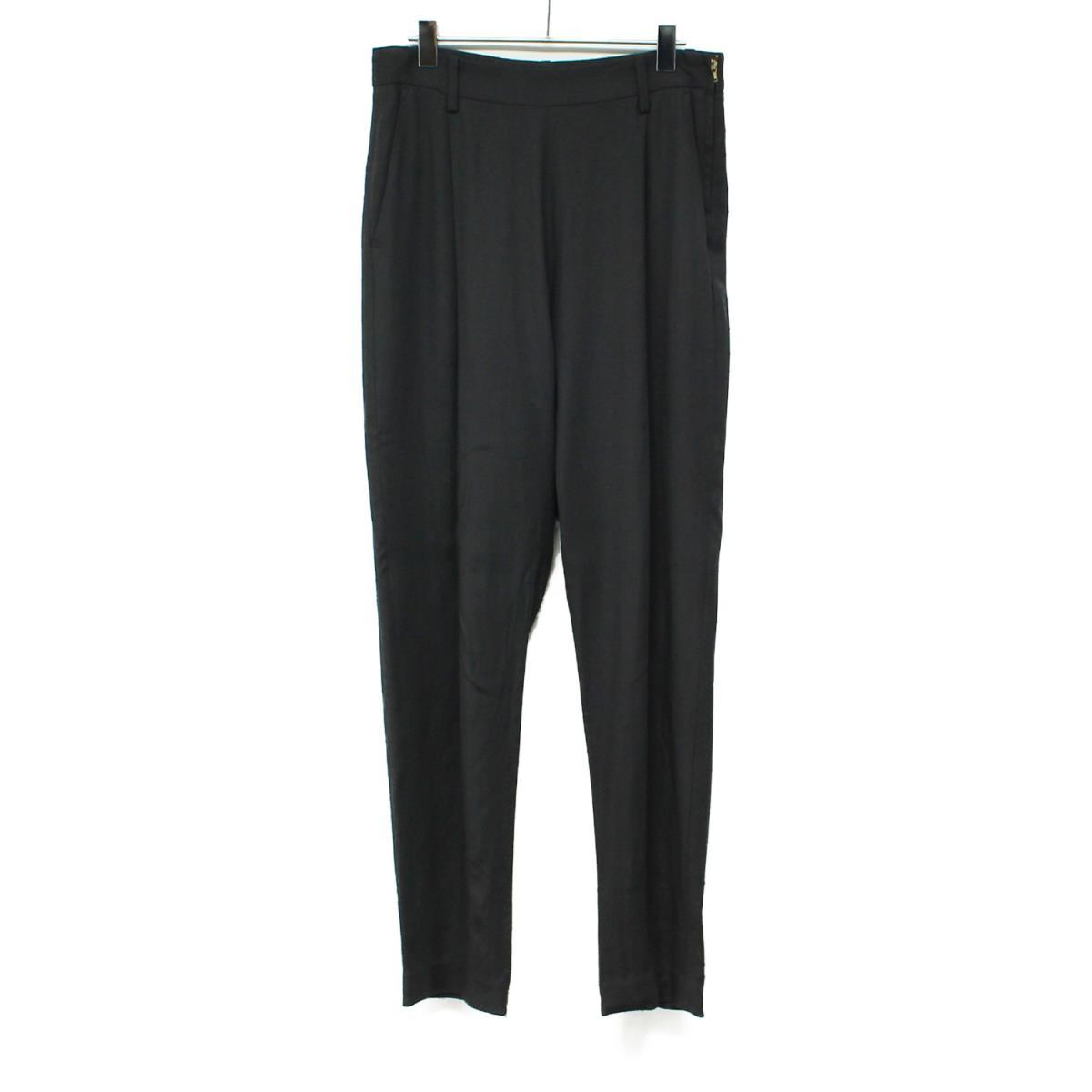 DEUXIEME CLASSE ドィーズィエムクラス テーパード パンツ 裾 ジップ ブラック 38(M) 【レディース】【中古】【K2617】