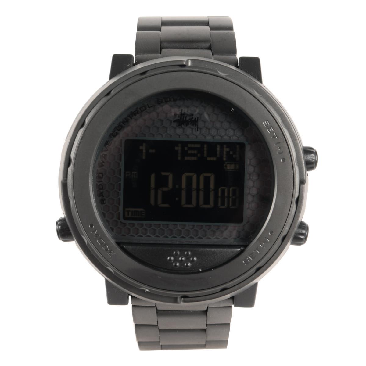 STUSSY ステューシー 時計 SEIKO WIRED h ソーラー 電波 デジタル 腕時計 ウォッチ ブラック 【メンズ】【中古】【美品】【K2717】