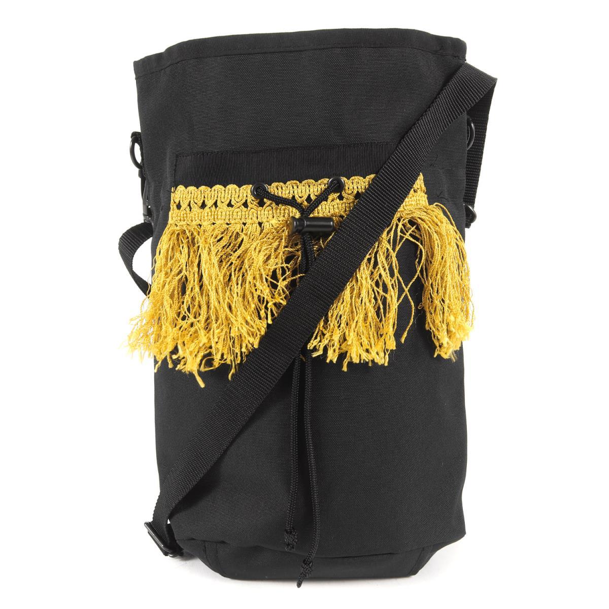 ジョンアンダーカバー バッグ ショルダーポーチ ユニセックス UNDERCOVER アンダーカバー ポーチ K2717 ブラック 中古 メンズ 美品 交換無料 国内正規品 18AW フリンジ