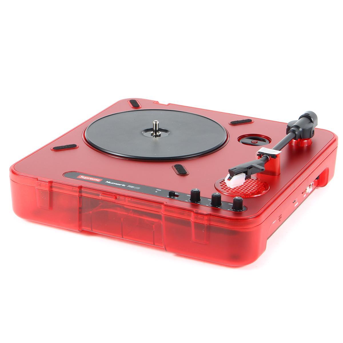 シュプリーム ヌマーク ターンテーブル Supreme Numark ポータブル PT01 Portable K2905 20SS Turntable 贈与 メンズ レッド 超美品再入荷品質至上
