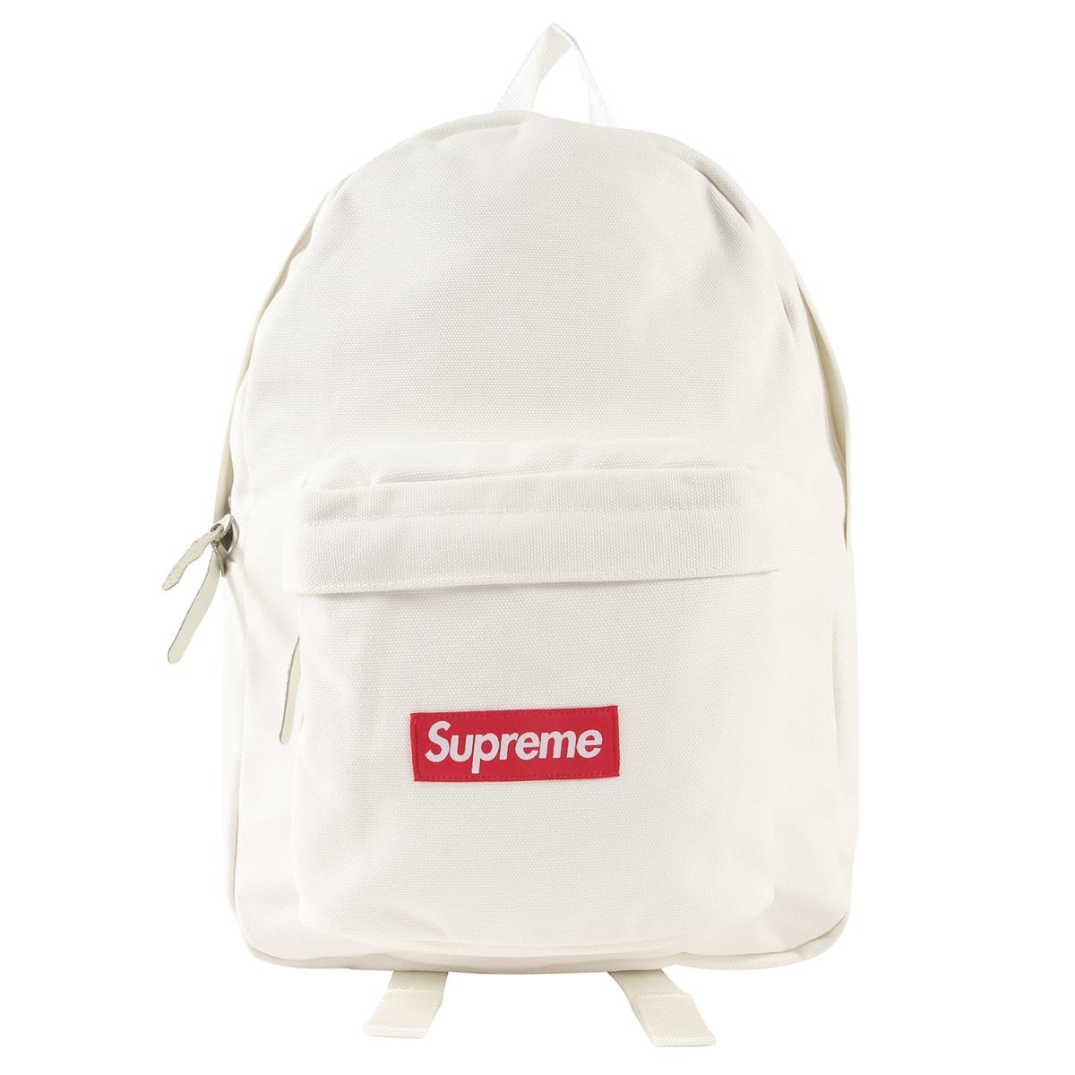 無料発送 Supreme シュプリーム バックパック 20AW キャンバス バックパック Canvas Backpack ホワイト 【メンズ】【K2876】, 車椅子シルバーカー卸センター 988d55fd