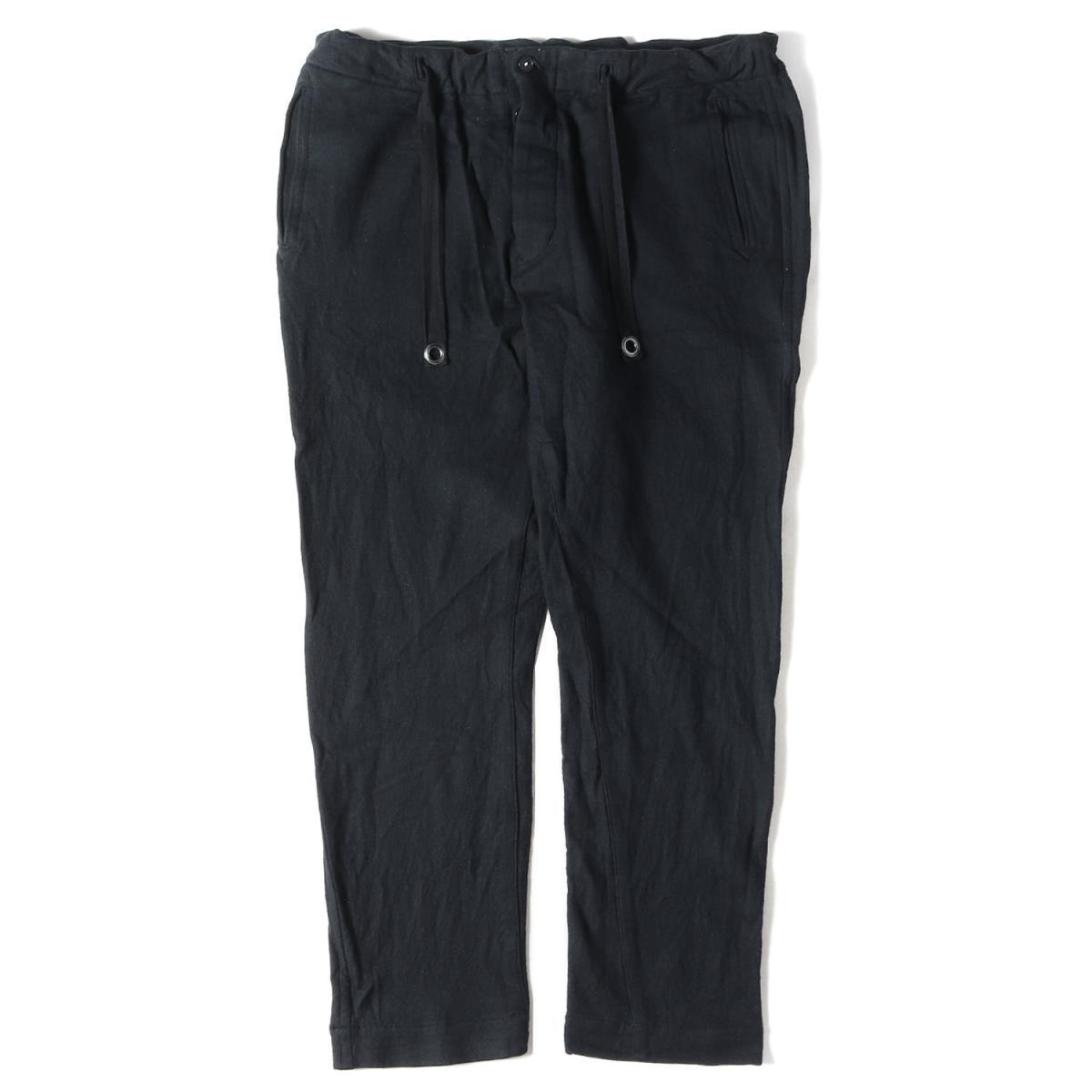 ハバーサック ドローストリング ウール イージーパンツ HAVERSACK パンツ 年間定番 中古 L K3000 ブラック 買い物 メンズ