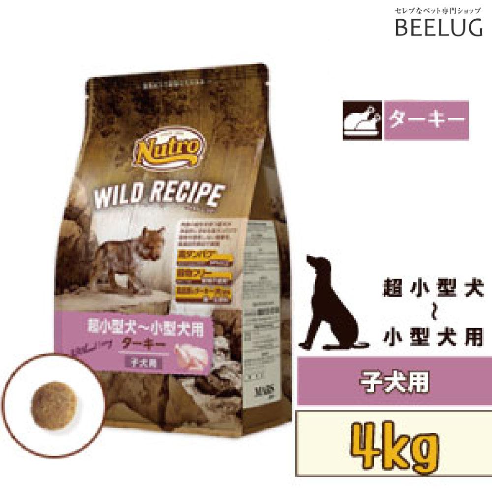 【子犬用】ニュートロ ワイルドレシピ 超小型犬~小型犬 子犬用 ターキー 【4kg】ドッグフード ドライフード 穀物フリー 犬 アレルギー 肉