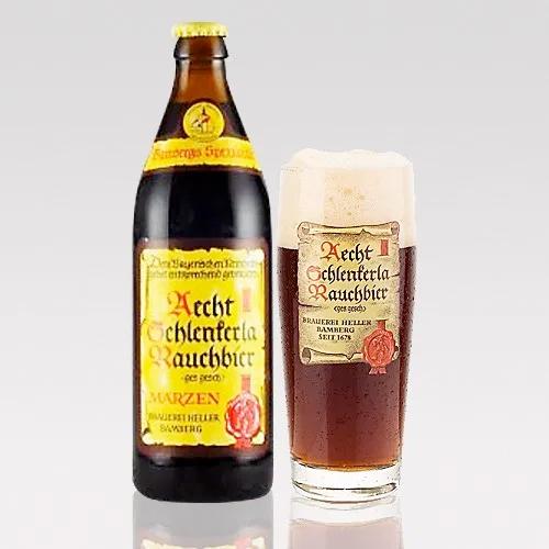 1678年から続くドイツラオホビールの老舗 正規認証品 正規品 新規格 ドイツ 燻製ビール シュレンケルラ ラオホビア あす楽発送 メルツェン500mL クラフトビール 送料無料