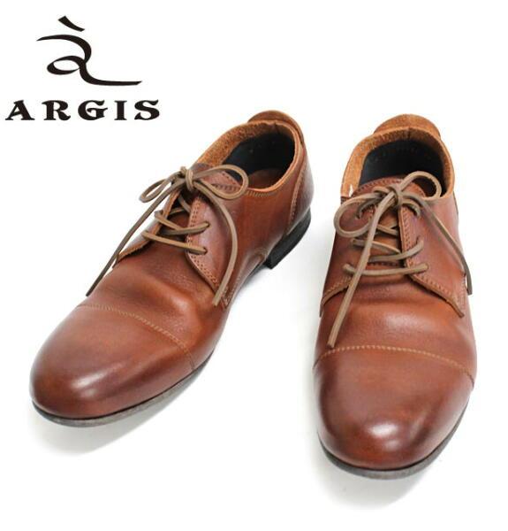 アルジス レザー シューズ カジュアル メンズ 靴 ARGIS ブラウンあす楽対応