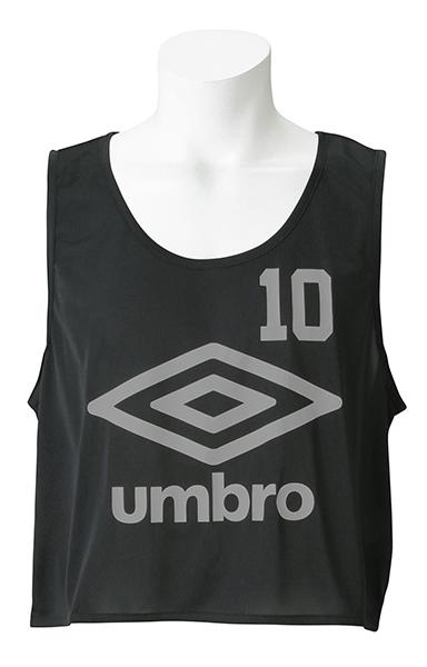 UMBRO(アンブロ)UBS7557Z-BLK【ユニセックス】ストロングビブス10P【UBS7557Z】【サッカー】【ビブス】