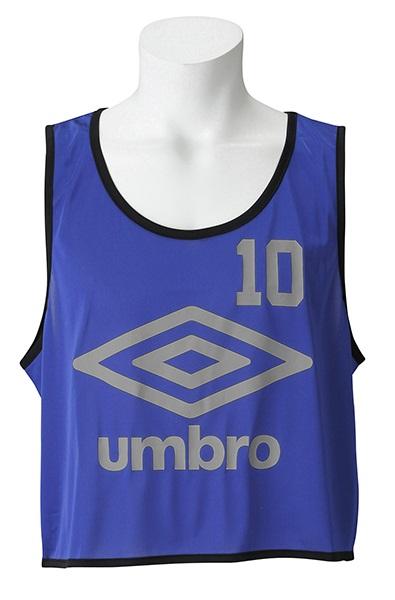 UMBRO(アンブロ)UBS7557Z-BLU【ユニセックス】ストロングビブス10P【UBS7557Z】【サッカー】【ビブス】