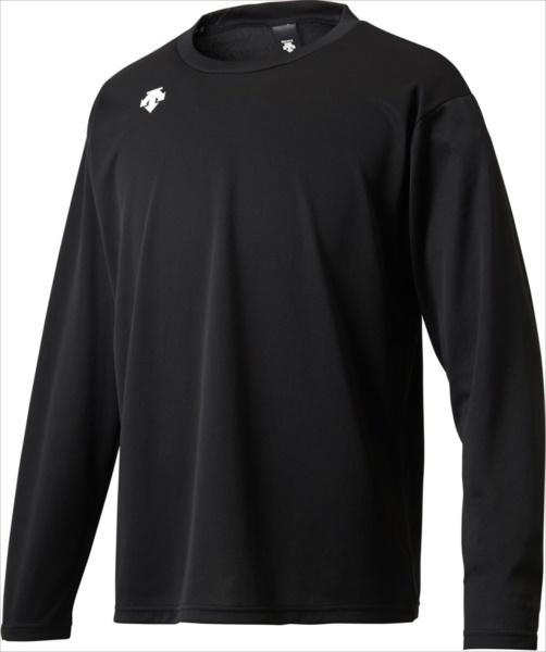 デサント DESCENTE スポーツ トレーニング 代引不可 価格 DESCENTE 男女兼用 ロングスリーブシャツ DMC5801LB-BLKワンポイント 特別セール品 ユニセックス DMC5801LB