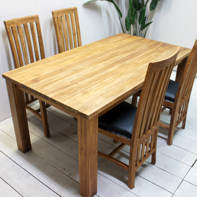 160cm (dining Table Set Tree Teak Furniture Wooden Living Horse Mackerel  Ann Modern Cafe)