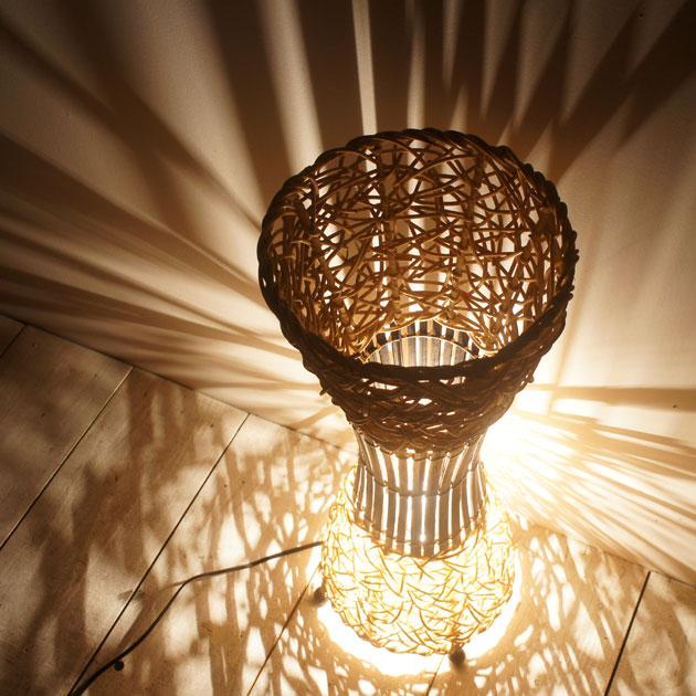 Standard Lamp Light 57 Asian Rattan Horse Mackerel Ann Lighting Led Adaptive Bedroom Living Ethnic
