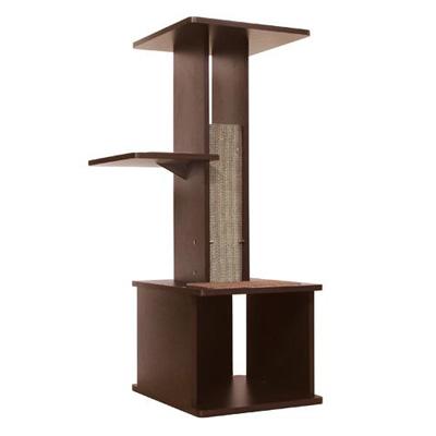 ペティオ ネココ スリムで壁ぎわに置きやすい キャットリビングタワー 送料無料 コンビニ受取対応商品