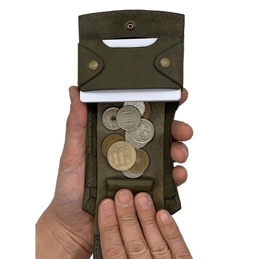 【Rascasse-ラスカス】【グリージオ】New Order Wallet-ニューオーダーウォレット/革/財布/革財布/L字ファスナー財布/ラウンドジップ/長財布/折り財布/2つ折り財布/レザー/ウォレット/革小物/ブランド/革製品/ミニウォレット/高級品/スマートウォレット/ハンドメイド/手作り