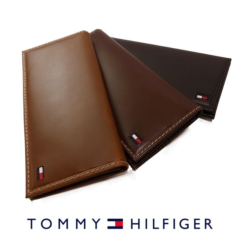 トミーヒルフィガー 二つ折り 長財布 ブラック ブラウン タン 31TL19X013 TOMMY HILFIGER トミー メンズ 財布 ウォレット サイフ レザー 本革 バレンタイン ギフト プレゼント