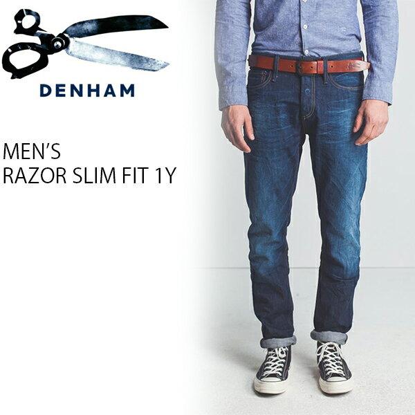 【デンハム SLIM デニムパンツ 01-1111016】【5-0058】 RAZOR 1Y DENHAM カジュアル メンズ デニム ジーンズ 高級感 特別 デニムパンツ ジーパン コレクション エレガント 美脚 スタンダード シルエットこだわり 個性的
