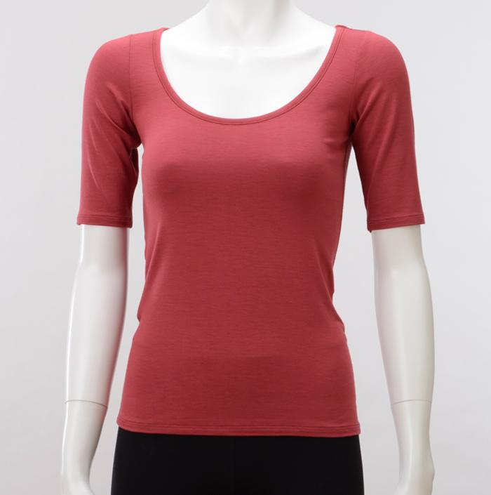 TAKEFU 대나무 섬유 5 분 소매 이너 (여성) 속옷 속옷