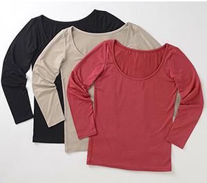 TAKEFU 대나무 섬유 긴 소매 이너 (여성) 속옷 속옷