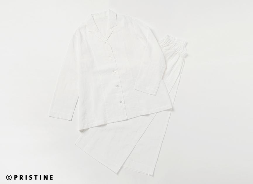 【送料無料】春夏物新作 オーガニックコットン プリスティン PRISTINE さらさらリネンコットン パジャマ サービスプラン416038(ご試着はできません)(宅配便便使用)プリスティン PRISTINE オーガニックコットン 肌にやさしい 敏感肌 天然繊維〇