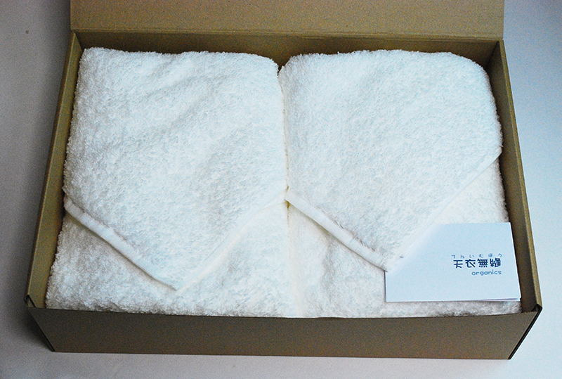 オーガニックコットン・天衣無縫 タオル ギフト・スーピマエンジェル・バスタオル2枚セット(箱代込み)