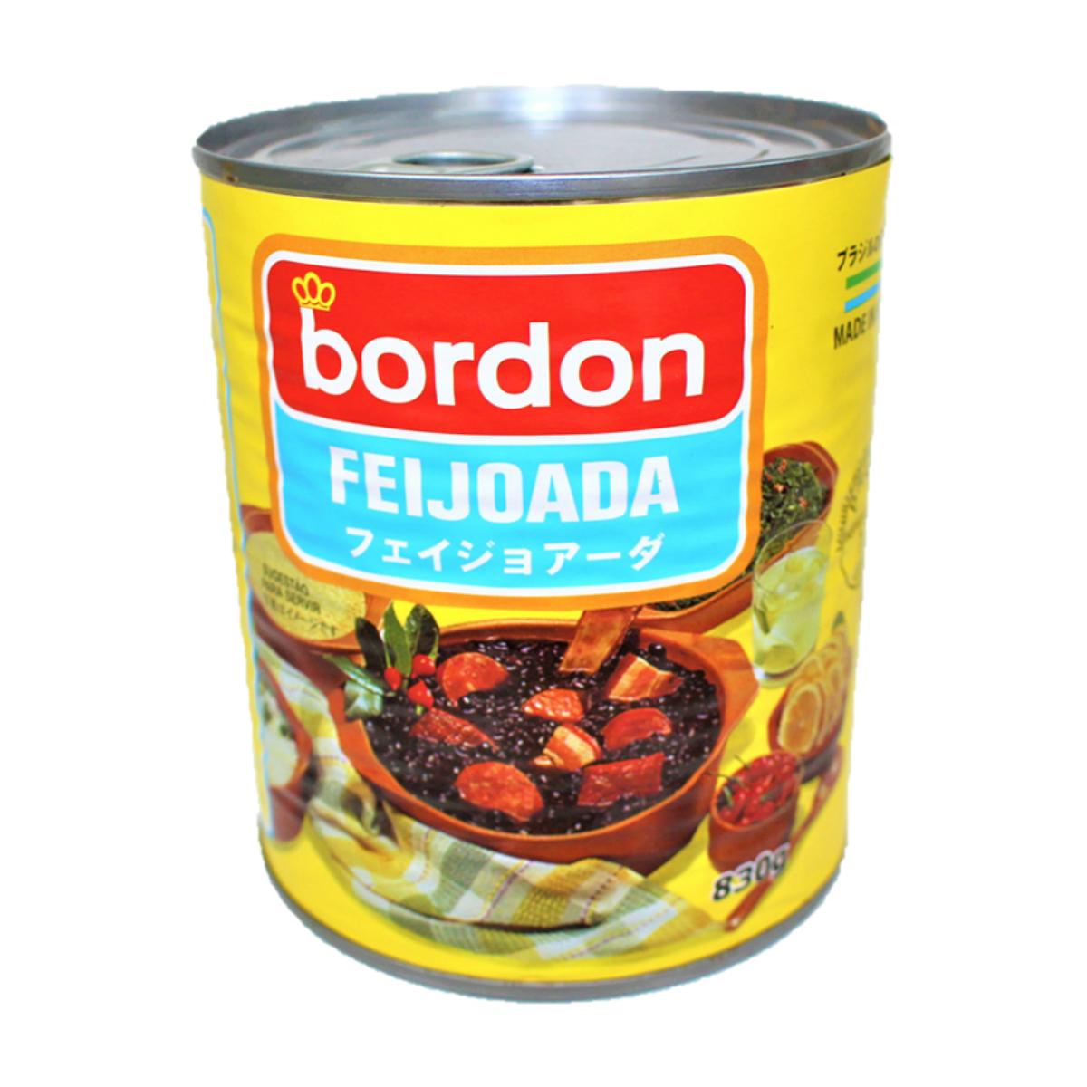 ブラジルの国民食ソールフード borbon FEIJOADA おすすめ特集 830gボルドン 爆安 黒インゲン豆と肉の煮込み 缶詰 フェイジョアーダ ブラジル