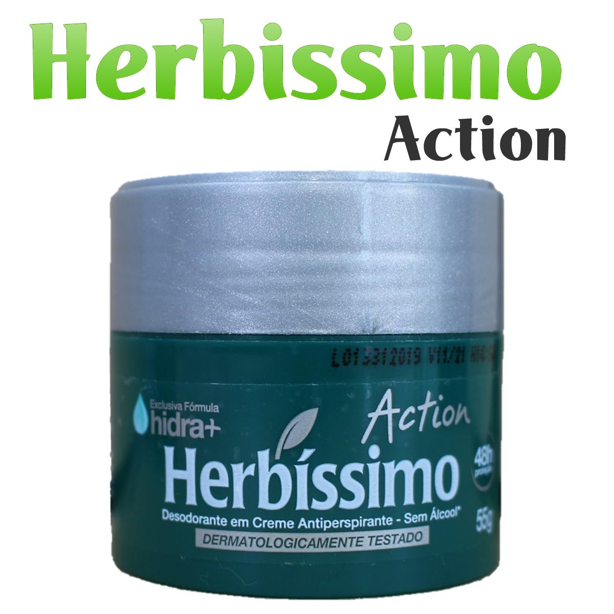 ユニセックスなワキ用デオドラント Herbissimo ●日本正規品● Action ワキ用 デオドランド 55g 即出荷 制汗剤