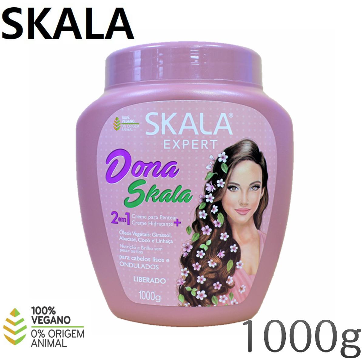 大容量 ブラジルで大人気のSKALAトリートメント 直営店 SKALA Dona Skala 2em1 トリートメント スタイリング剤 ヘアケア用品 1000g ドナ お歳暮 スカラ