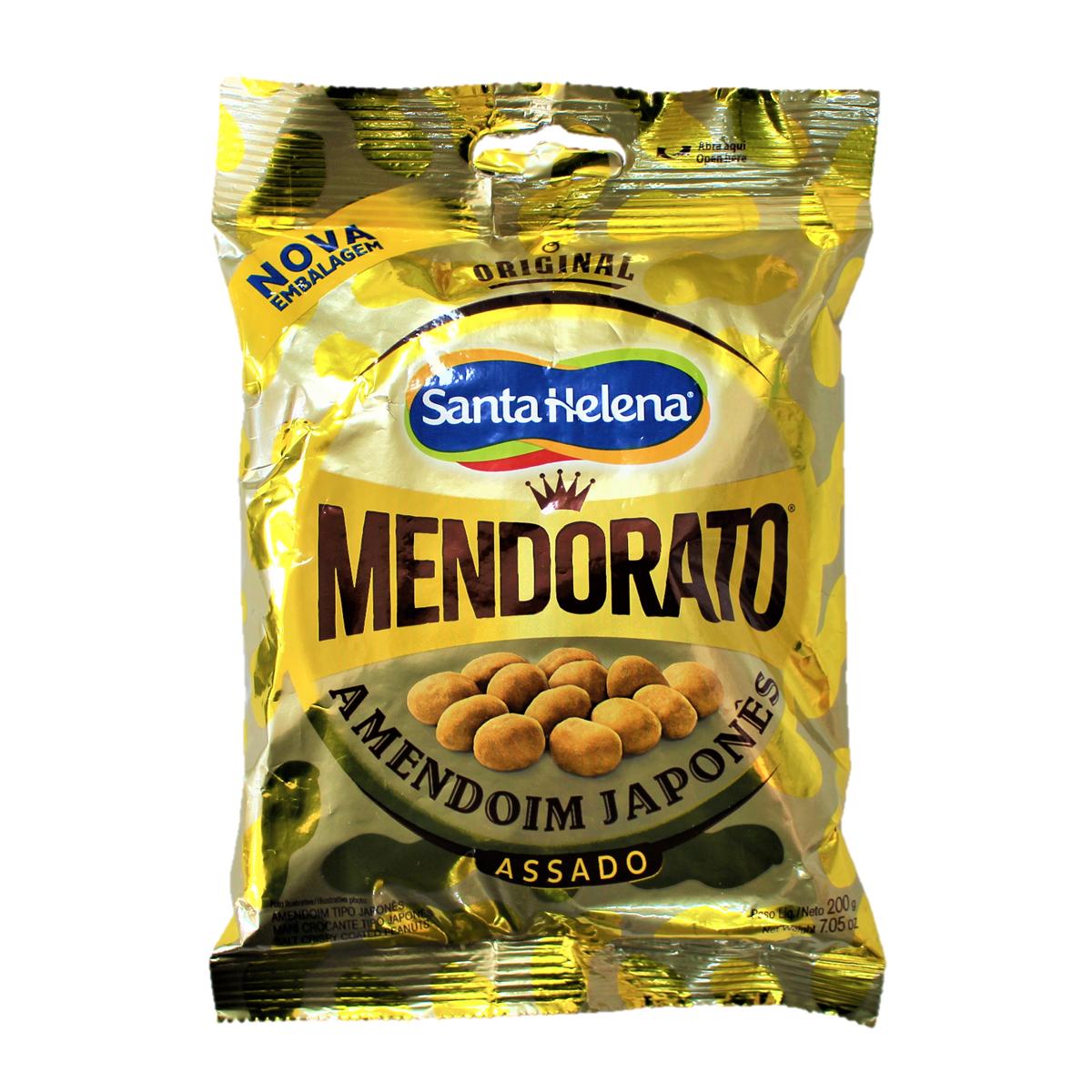 ピーナッツのサクサクスナック菓子 お酒のおつまみに 人気ブランド 贈物 MENDORATO Original ブラジル 醤油味 食品 200gピーナッツ菓子