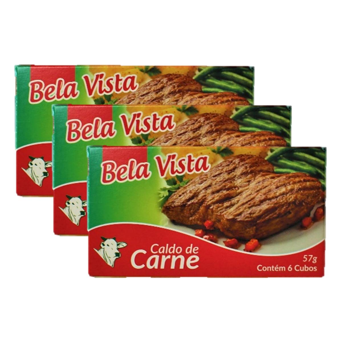 スープやお料理に 3個セット 乾燥スープの素 コンソメ 57g 6個入り Vista de Carne Caldo Bela クリアランスsale!期間限定! 即出荷 ×3