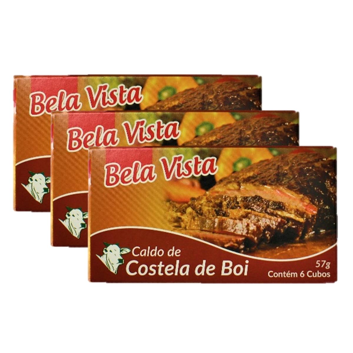 スープやお料理に 5%OFF 新品■送料無料■ 3個セット 乾燥スープの素 コンソメ 57g 6個入り ×3 Vista Caldo Costela de Boi Bela