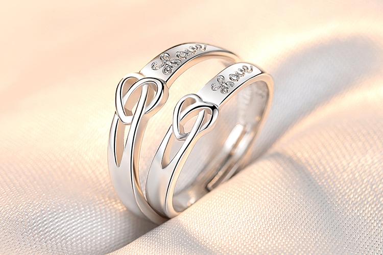 ペアリング 2個セット 在庫処分 リング 指輪 フリーサイズ ハート 重ねづけ 大規模セール 重ね着け 誕生日 メール便送料無料 プレゼント 重ね付け デイリー シルバー カジュアル 記念日のサプライズ