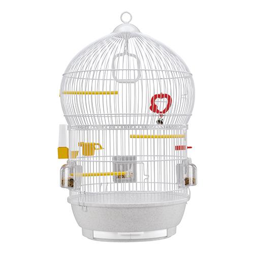 安い 激安 プチプラ 高品質 96時間限定 通常P5倍→P10倍 2 20 0:00~2 23 23:59 完全送料無料 ショップレビューを書いて11000円以上で使える1001円OFFクーポン獲得 イタリアferplast社製 鳥かご カナリア セキセイインコ ゲージ 鳥籠 バリ Gold 小型鳥用 Bali フルセット ホワイト