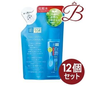 【×12個】ロート製薬 肌ラボ 白潤 (シロジュン) 薬用美白化粧水しっとりタイプ 170mL 詰替え用