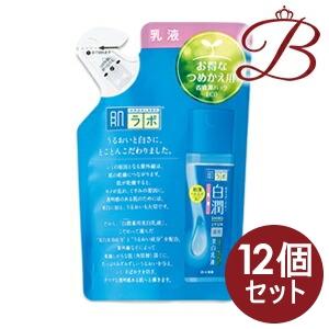 【×12個】ロート製薬 肌ラボ 白潤 (シロジュン) 薬用美白乳液 140mL 詰替え用