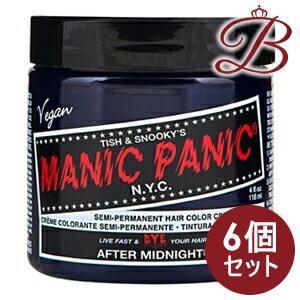 【×6個】MANIC PANIC マニックパニック ヘアカラー クリーム アフターミッドナイトブル MC11001 118mL