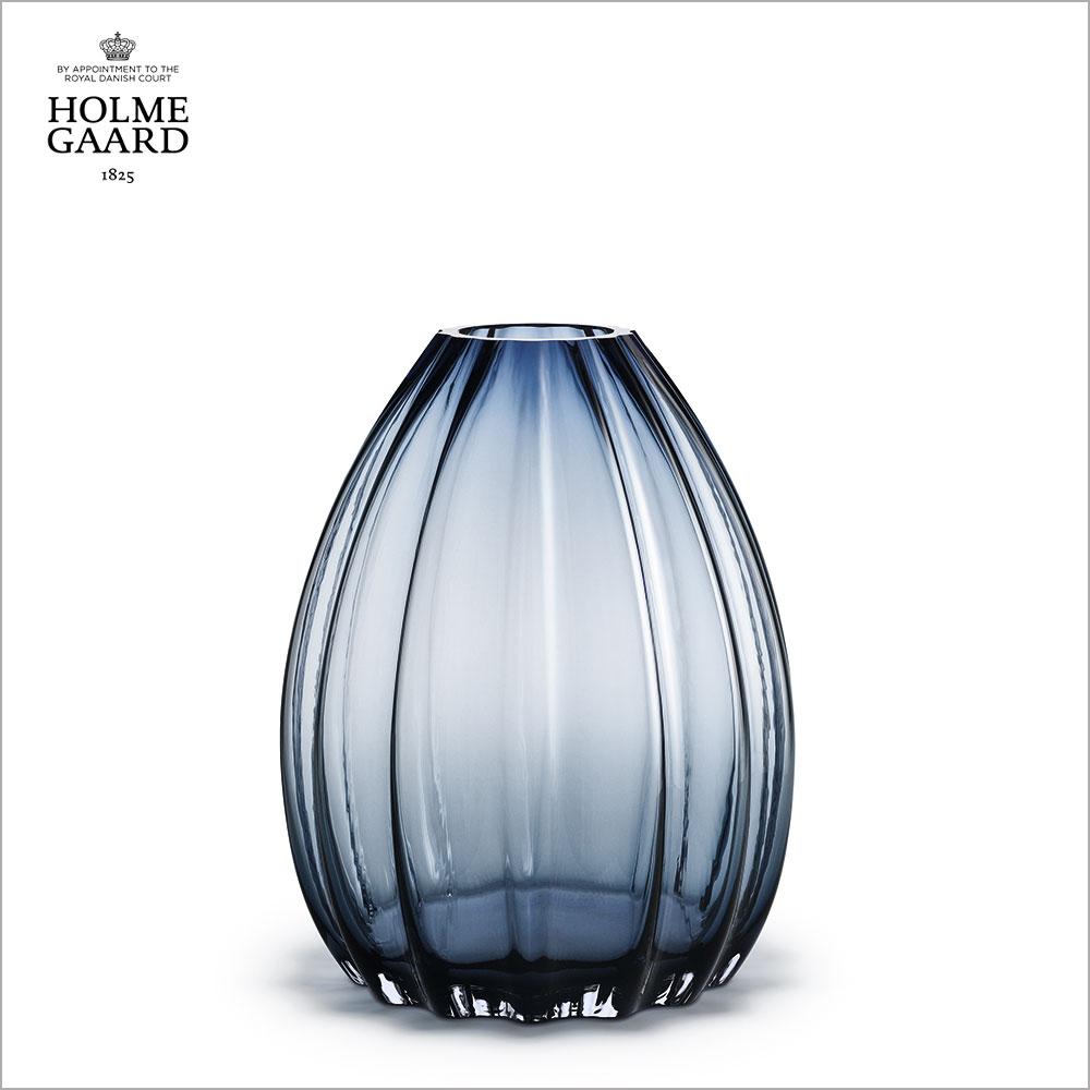 花瓶 インテリア小物・置物HOLMEGAARD ホルムガード2LIPS VASE Blue (M) 34cmフラワーベース ブルー #4340442吹きガラス【 受注商品 】