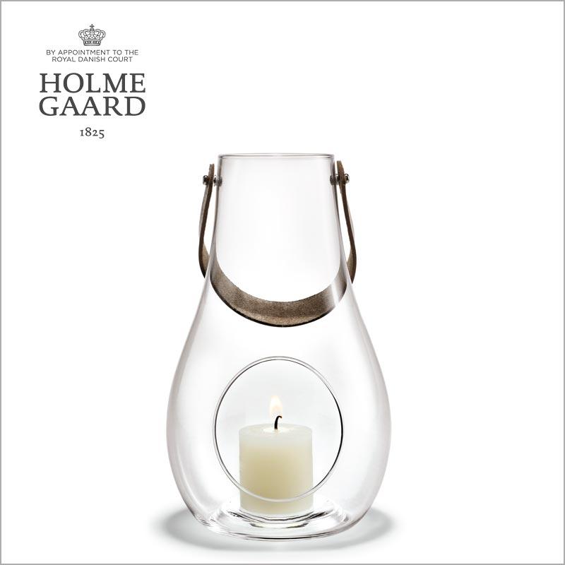 ランタン キャンドルスタンド ホルムガードDESIGN WITH LIGHT Lantern Clear (M) H24,8cm ランタン クリア (M) キャンドルホルダー #4343501 吹きガラスステンレス蓋付き ローゼンダール