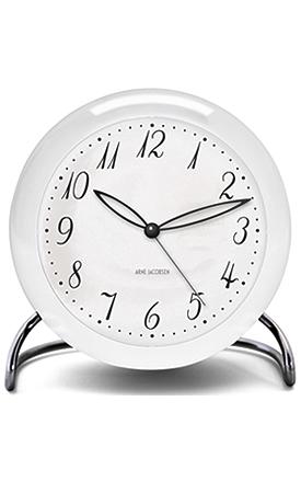 アルネヤコブセン 置き時計テーブルクロック Arne Jacobsen LK TableClockアルネ・ヤコブセン テ―ブルクロック LK 43670ホワイト×シルバーローゼンダール ROSENDAHL【送料無料 】【正規取扱店】