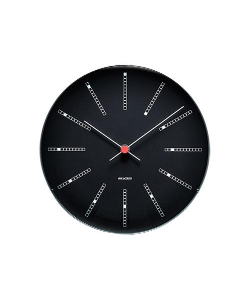 時計 壁掛け アルネヤコブセン ウォールクロックArne Jacobsen Wall Clock Bankers BLACK 290mmバンカーズ ブラック 掛け時計 アルネ・ヤコブセン 43646ローゼンダール
