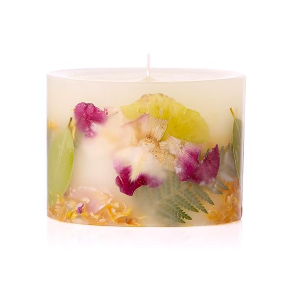 キャンドルRosy Rings Petite Botanical Candles ロージーリングス プティボタニカル キャンドル ユズ&ワイルドパーム(10×H7.5cm) アロマキャンドル 燃焼時間:約60時間 BOP-YWPギフト プレゼント
