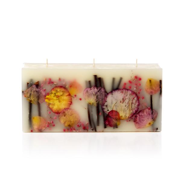 ボタニカル キャンドル ロージーリングス Rosy Rings Botanical Candles 3-Wick ブリック <アプリコット&ローズ>(3本芯)BKL-AR アロマキャンドル 燃焼時間:160時間