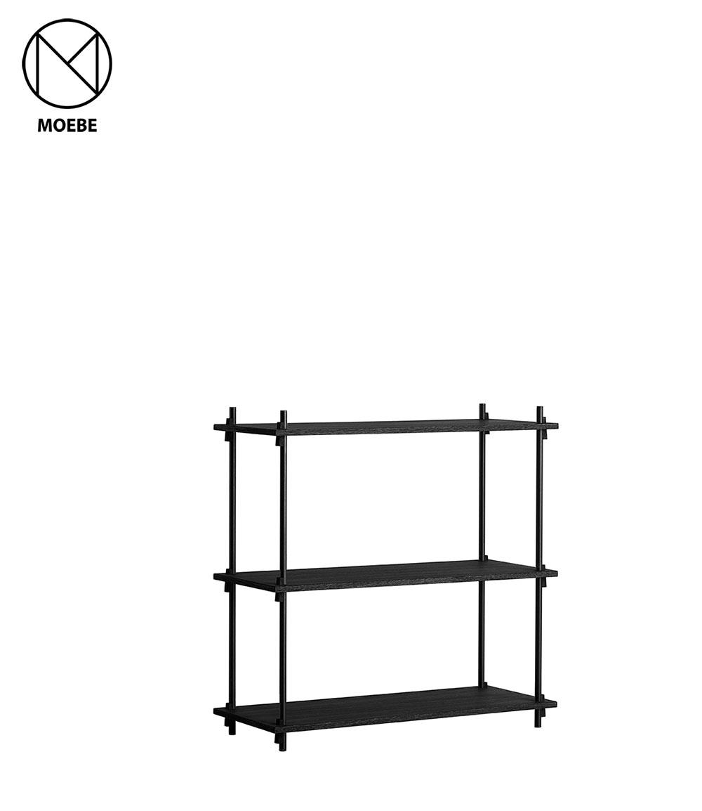 棚 北欧 家具 雑貨 シェルビングシステム ムーベ MOEBE SHELVING SYSTEM シングル 高さ85cm SSO85SET / SSBL85SET