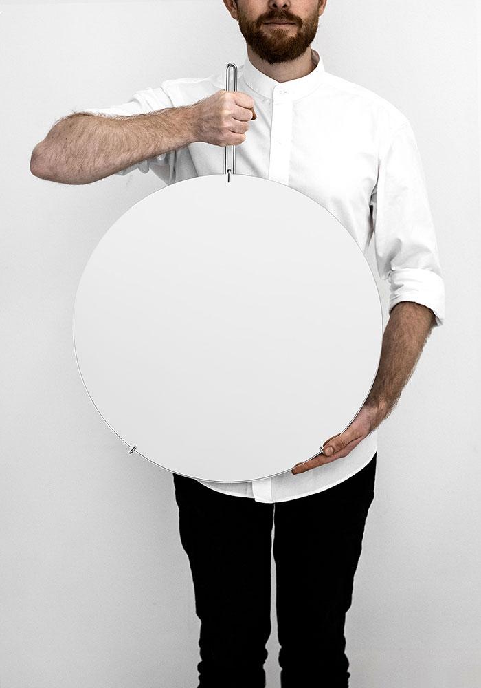 ウォールミラー ムーベ MOEBE WALL MIRROR クローム Chrome / 直径50cm 鏡 壁掛け フレームレス 北欧雑貨 WMCR50 【受注発注商品】