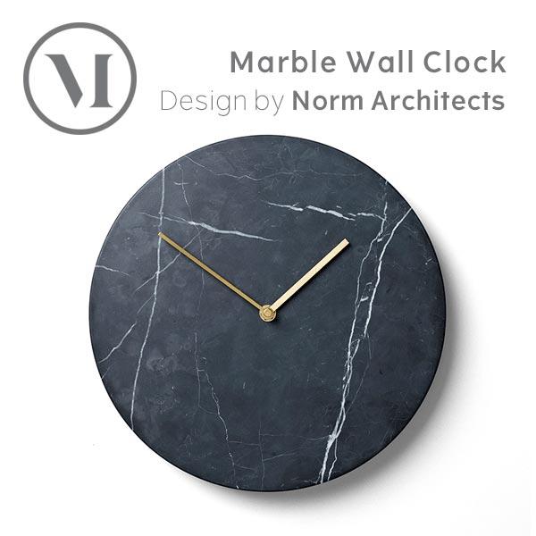時計 壁掛け クロック MENU メニュマーブルウォールクロック ブラック 8200539壁掛け時計 北欧雑貨 インテリア