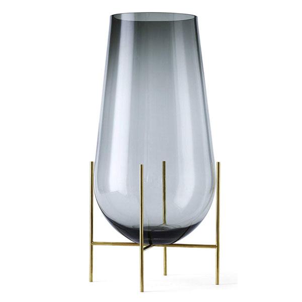 MENU イシャスベース L スモーク 4797949ブラワーベース 花瓶 ガラス インテリア北欧雑貨 インテリア雑貨