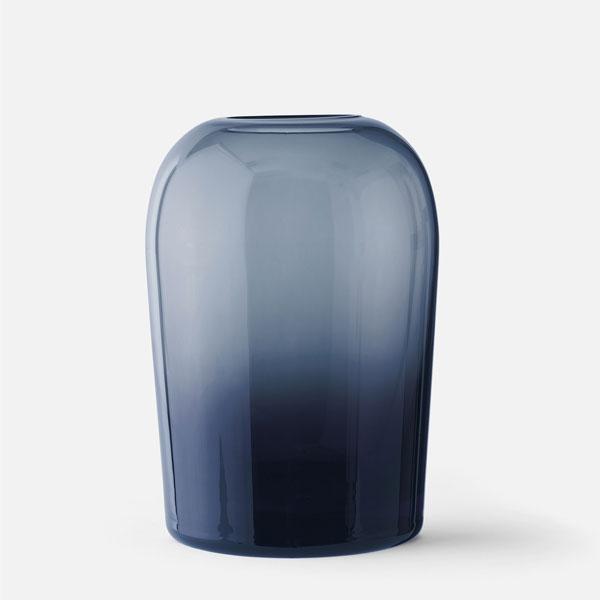 MENU メニュー トロールベース Lサイズ ミッドナイトブルー H19cm 4733779Troll Vase フラワーベース 花瓶 ガラス北欧雑貨 インテリア