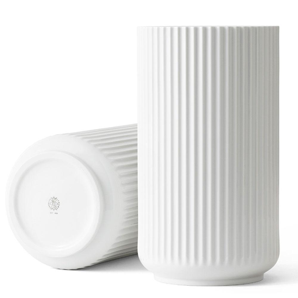 花瓶 フラワーベース 磁器   リュンビューポーセリン ベース ホワイト 38cm LYNGBY PORCELAIN VASE 200794   北欧雑貨 デンマーク ドイツ製 【 受発注商品 】