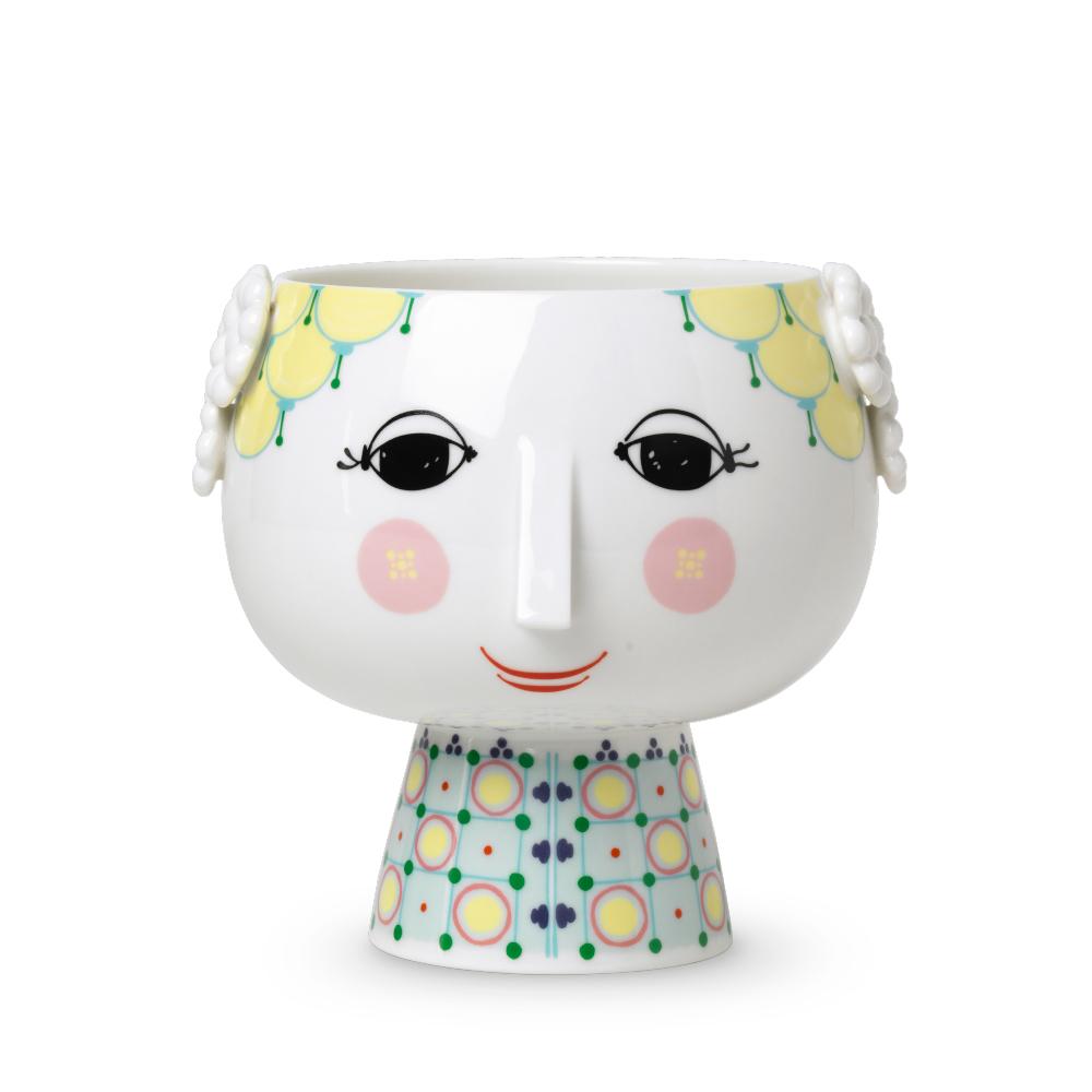 日本正規代理店品 Bjorn Wiinblad 花瓶 北欧雑貨 あす楽 ビヨン ヴィンブラッド EVA Flower Pot H14.5cm イエロー エバ 期間限定今なら送料無料 おしゃれ 56512 YELLOW エヴァ フラワーポット 無料ラッピング 新色 デンマーク 北欧