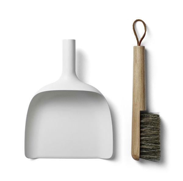 ちりとり&ブラシ セット MENU メニュSweeper & Funnel ホワイト 4801639北欧雑貨 インテリア雑貨