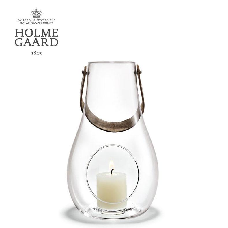 ランタン キャンドルスタンド ホルムガードDESIGN WITH LIGHT Lantern Clear (M) H24,8cm ランタン クリア (M) キャンドルホルダー 4343501 吹きガラスステンレス蓋付き ローゼンダールギフト 贈り物 プレゼント ラッピング